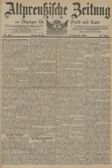 Altpreussische Zeitung, Nr. 291 Freitag 12 Dezember 1890, 42. Jahrgang