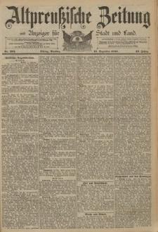 Altpreussische Zeitung, Nr. 294 Dienstag 16 Dezember 1890, 42. Jahrgang