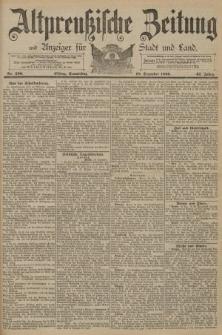 Altpreussische Zeitung, Nr. 296 Donnerstag 18 Dezember 1890, 42. Jahrgang
