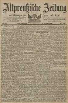 Altpreussische Zeitung, Nr. 298 Sonnabend 20 Dezember 1890, 42. Jahrgang