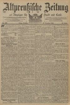 Altpreussische Zeitung, Nr. 300 Dienstag 23 Dezember 1890, 42. Jahrgang