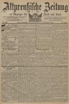 Altpreussische Zeitung, Nr. 302 Donnerstag 25 Dezember 1890, 42. Jahrgang