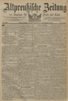 Altpreussische Zeitung, Nr. 303 Freitag 26 Dezember 1890, 42. Jahrgang