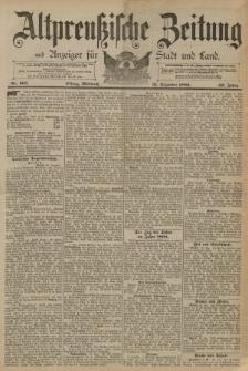 Altpreussische Zeitung, Nr. 305 Mittwoch 31 Dezember 1890, 42. Jahrgang