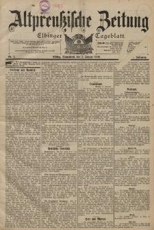 Altpreussische Zeitung, Nr. 1 Sonnabend 1 Januar 1898, 50. Jahrgang