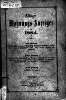 Elbinger Wohnungs-Anzeiger für 1884