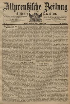 Altpreussische Zeitung, Nr. 6 Sonnabend 8 Januar 1898, 50. Jahrgang