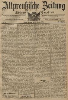 Altpreussische Zeitung, Nr. 11 Freitag 14 Januar 1898, 50. Jahrgang