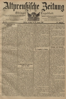 Altpreussische Zeitung, Nr. 14 Dienstag 18 Januar 1898, 50. Jahrgang