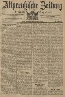 Altpreussische Zeitung, Nr. 16 Donnerstag 20 Januar 1898, 50. Jahrgang