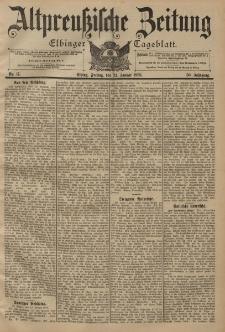 Altpreussische Zeitung, Nr. 17 Freitag 21 Januar 1898, 50. Jahrgang