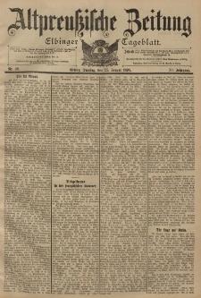 Altpreussische Zeitung, Nr. 20 Dienstag 25 Januar 1898, 50. Jahrgang