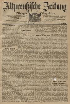 Altpreussische Zeitung, Nr. 22 Donnerstag 27 Januar 1898, 50. Jahrgang