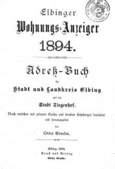 Elbinger Wohnungs-Anzeiger 1894