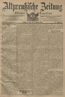 Altpreussische Zeitung, Nr. 32 Dienstag 8 Februar 1898, 50. Jahrgang
