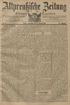 Altpreussische Zeitung, Nr. 34 Donnerstag 10 Februar 1898, 50. Jahrgang