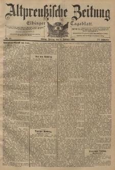 Altpreussische Zeitung, Nr. 35 Freitag 11 Februar 1898, 50. Jahrgang