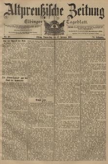 Altpreussische Zeitung, Nr. 40 Donnerstag 17 Februar 1898, 50. Jahrgang