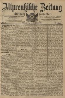 Altpreussische Zeitung, Nr. 41 Freitag 18 Februar 1898, 50. Jahrgang