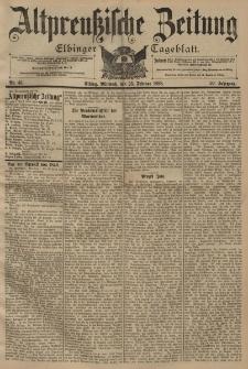 Altpreussische Zeitung, Nr. 45 Mittwoch 23 Februar 1898, 50. Jahrgang