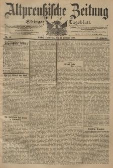 Altpreussische Zeitung, Nr. 46 Donnerstag 24 Februar 1898, 50. Jahrgang