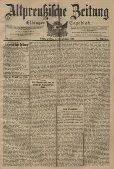 Altpreussische Zeitung, Nr. 47 Freitag 25 Februar 1898, 50. Jahrgang