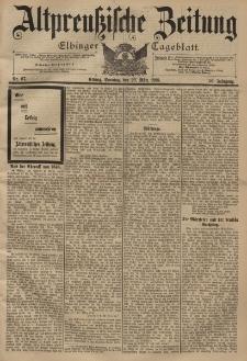 Altpreussische Zeitung, Nr. 67 Sonntag 20 März 1898, 50. Jahrgang