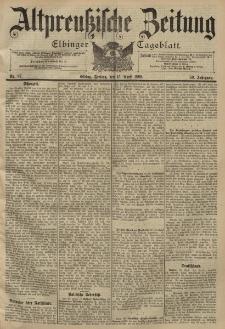 Altpreussische Zeitung, Nr. 87 Freitag 15 April 1898, 50. Jahrgang