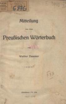 Mitteilung aus dem Preußischen Wörterbuch