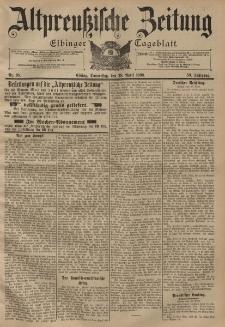 Altpreussische Zeitung, Nr. 98 Donnerstag 28 April 1898, 50. Jahrgang