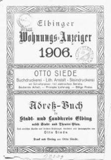 Elbinger Wohnungs-Anzeiger 1906