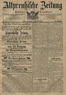 Altpreussische Zeitung, Nr. 121 Donnerstag 26 Mai 1898, 50. Jahrgang