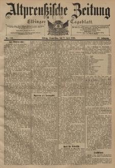 Altpreussische Zeitung, Nr. 132 Donnerstag 9 Juni 1898, 50. Jahrgang