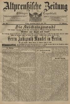 Altpreussische Zeitung, Nr. 138 Donnerstag 16 Juni 1898, 50. Jahrgang