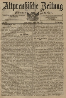 Altpreussische Zeitung, Nr. 142 Dienstag 21 Juni 1898, 50. Jahrgang