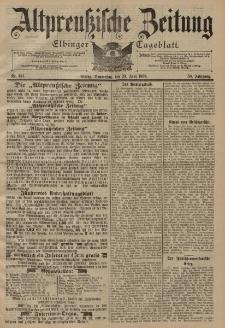 Altpreussische Zeitung, Nr. 144 Donnerstag 23 Juni 1898, 50. Jahrgang