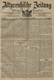 Altpreussische Zeitung, Nr. 167 Mittwoch 20 Juli 1898, 50. Jahrgang