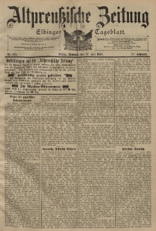 Altpreussische Zeitung, Nr. 173 Mittwoch 27 Juli 1898, 50. Jahrgang