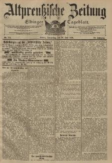 Altpreussische Zeitung, Nr. 174 Donnerstag 28 Juli 1898, 50. Jahrgang