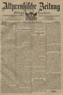 Altpreussische Zeitung, Nr. 189 Sonntag 14 August 1898, 50. Jahrgang