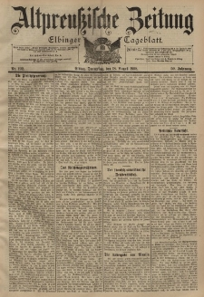 Altpreussische Zeitung, Nr. 192 Donnerstag 18 August 1898, 50. Jahrgang