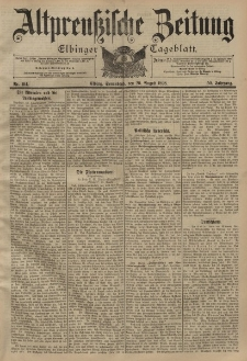Altpreussische Zeitung, Nr. 194 Sonnabend 20 August 1898, 50. Jahrgang
