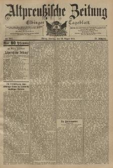 Altpreussische Zeitung, Nr. 202 Dienstag 30 August 1898, 50. Jahrgang