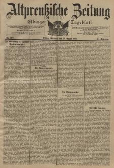 Altpreussische Zeitung, Nr. 203 Mittwoch 31 August 1898, 50. Jahrgang