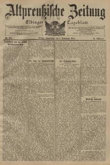 Altpreussische Zeitung, Nr. 204 Donnerstag 1 September 1898, 50. Jahrgang