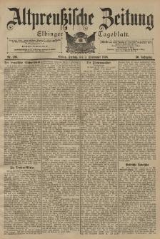 Altpreussische Zeitung, Nr. 205 Freitag 2 September 1898, 50. Jahrgang