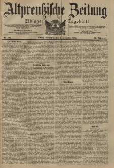 Altpreussische Zeitung, Nr. 206 Sonnabend 3 September 1898, 50. Jahrgang