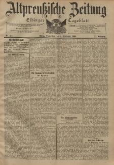 Altpreussische Zeitung, Nr. 210 Donnerstag 8 September 1898, 50. Jahrgang