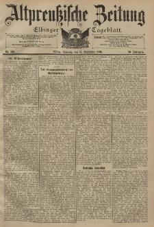 Altpreussische Zeitung, Nr. 213 Sonntag 11 September 1898, 50. Jahrgang
