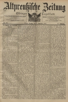 Altpreussische Zeitung, Nr. 214 Dienstag 13 September 1898, 50. Jahrgang